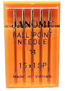 Janome Ballpoint Needle Size 14 15x1SP