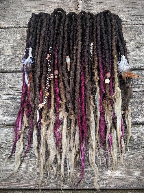 Wild Witch 3/4 Set of Wool Dreadlocks