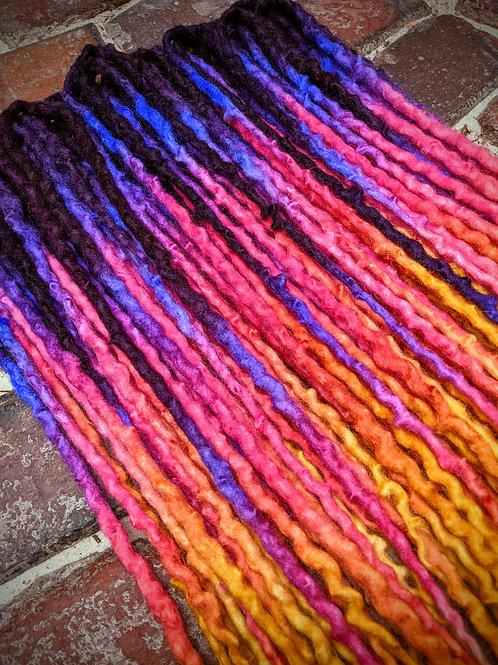 Sunrise Full Set of Wool Dreadlocks