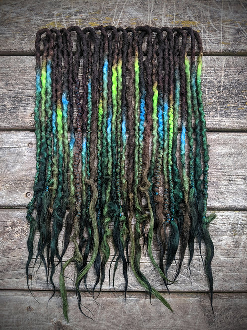 Sorceress of the Swamps Partial Set of Wool Dreadlocks