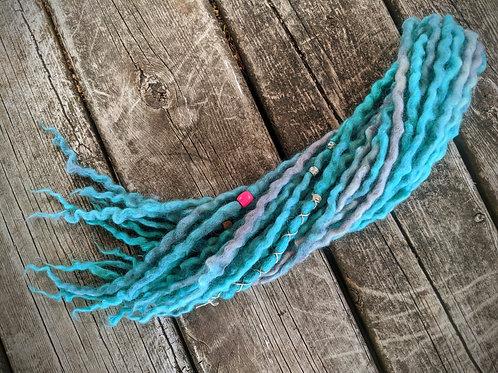 Seafoam Selkie Partial Set Of Wool Dreadlocks