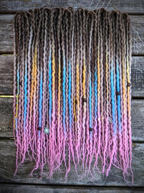 Bahama Mama Full Set of Wool Dreadlocks