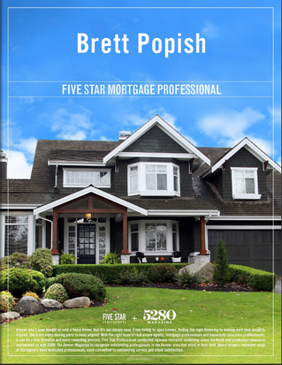 Brett Popish Earns 5 Star Mortgage Award