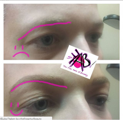 uplifted brows