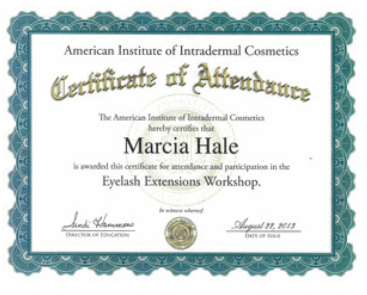 Eyelash Extension Certification AIIC