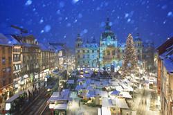 Rathaus Projektion (c) Graz Tourismus - Harry Schiffer