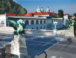 23. Dragon Bridge with Cathedral in background