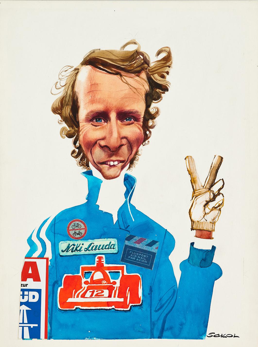 Erich Sokol, Niki Lauda, 1975