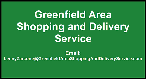 Greenfield Area Shopping and Delivery Se