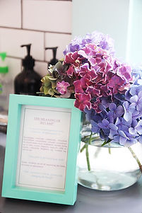 'The meanign of Revamp' picture and vase of flowers