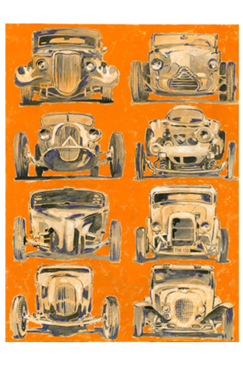 Iconic Hot Rods Print