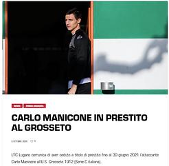 Carlo Manicone in prestito al grosseto.p
