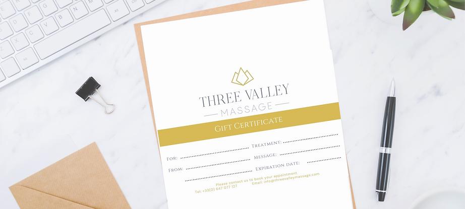 Gift Voucher Three Valley Massage