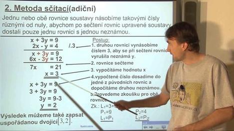 Soustavy rovnic o dvou neznámých