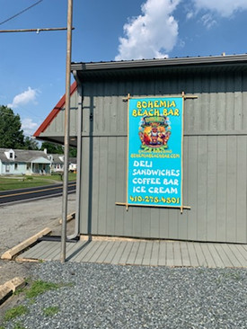 New Bohemia Beach Bar sign!