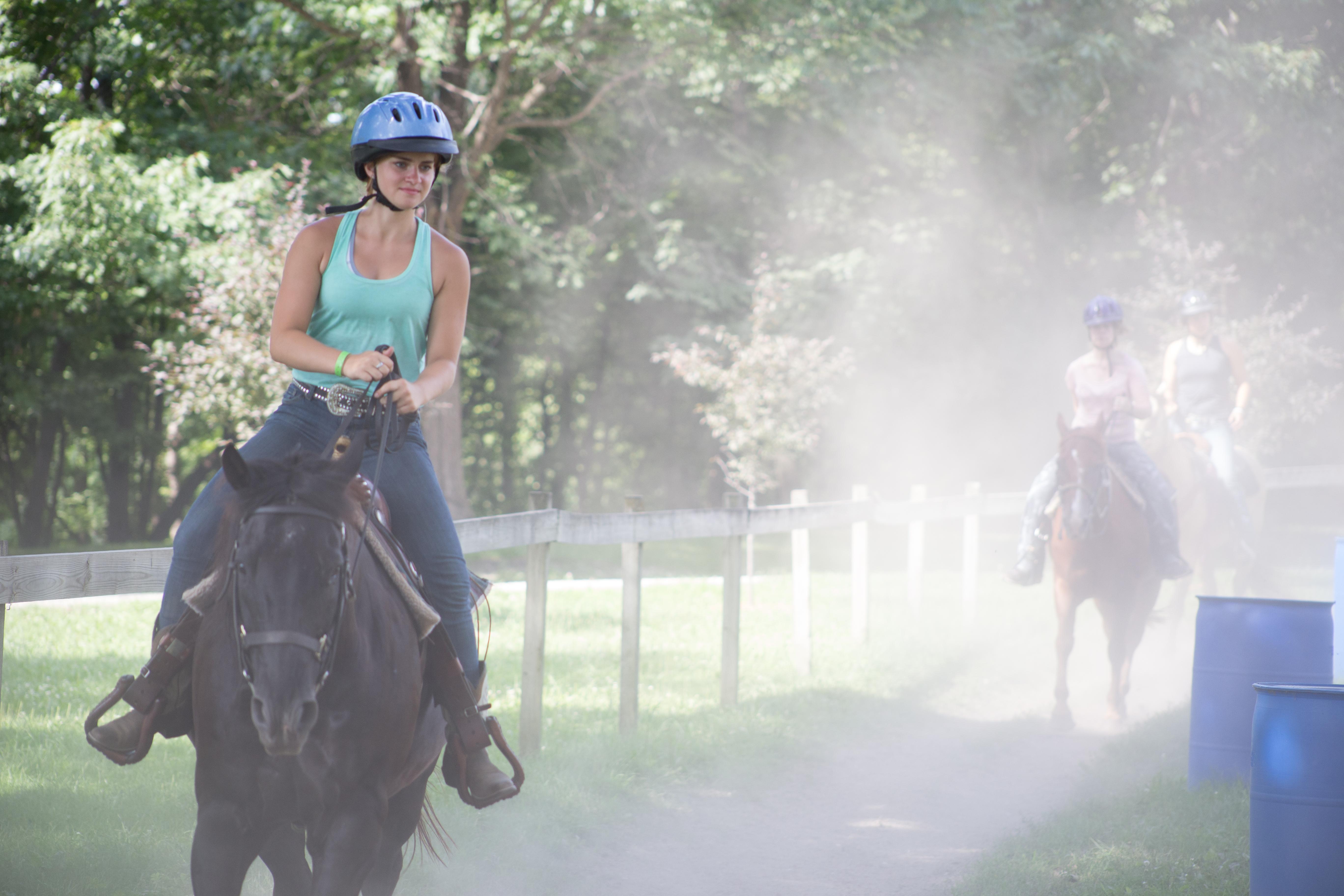 Ride horses!