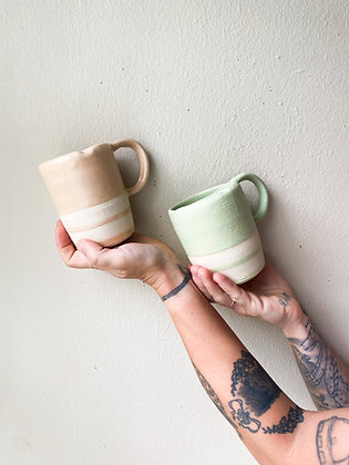 70's Ceramic To Go Mugs