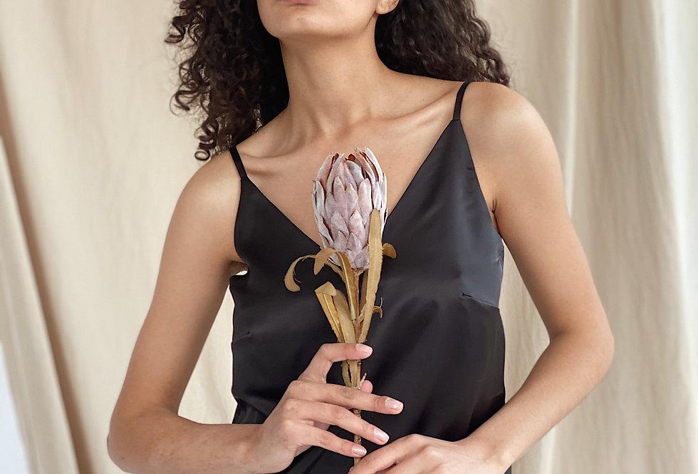 Блуза из Армани шелка черная