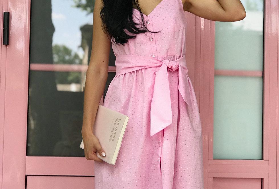 Cарафан Бант на пуговичках розовый
