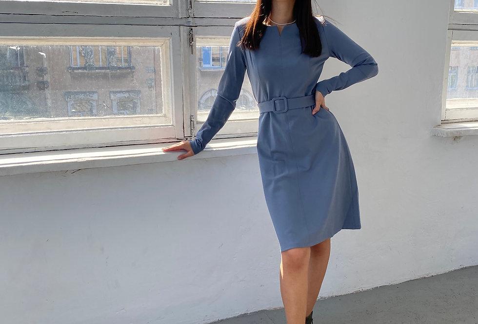 Платье Джерси серое