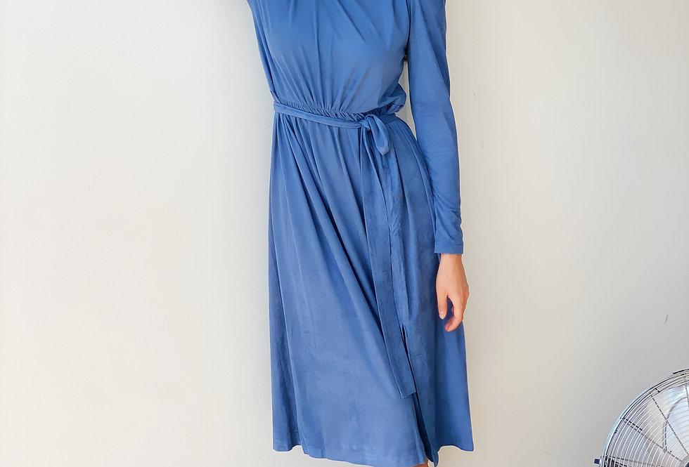 Платье-чулок голубое