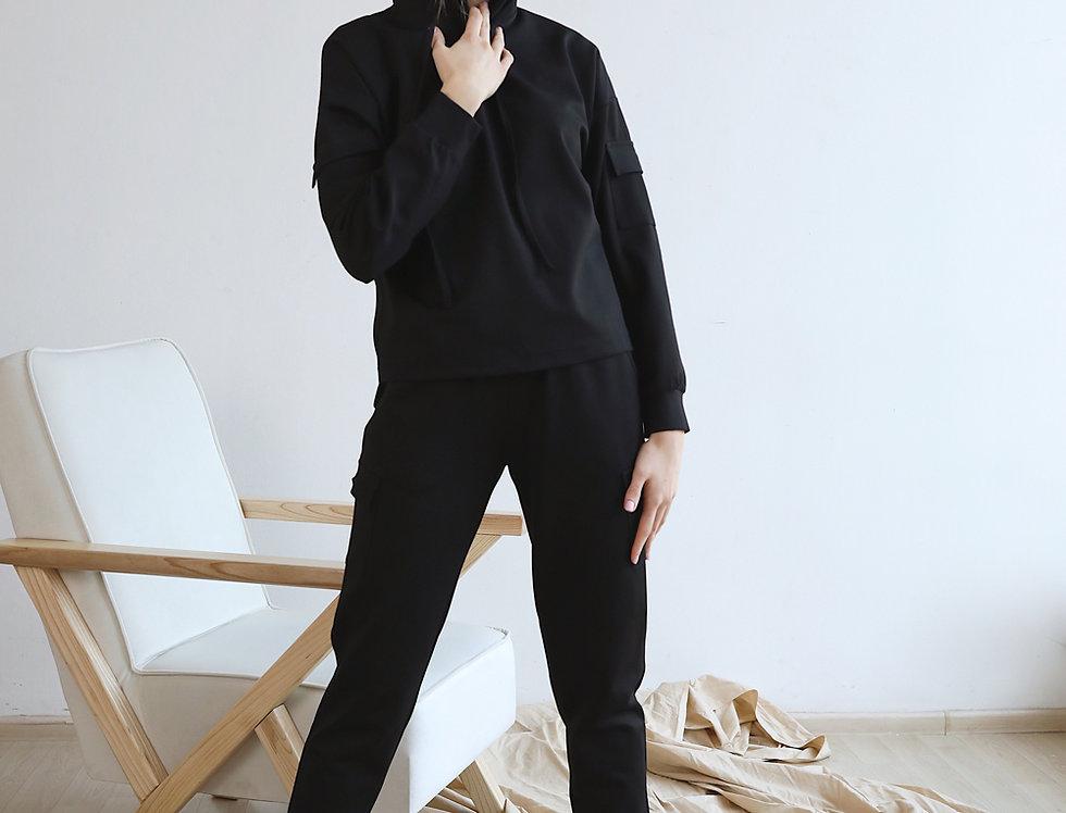 Спортивный костюм Джерси черный