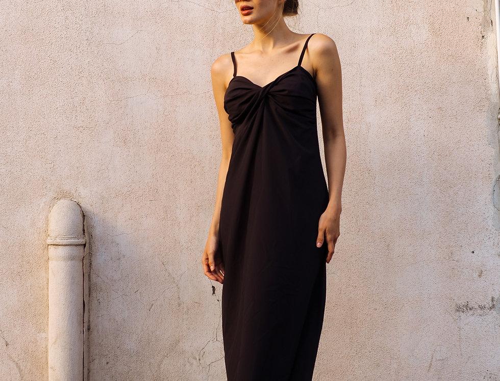 Платье-комбинация Валенсия черное