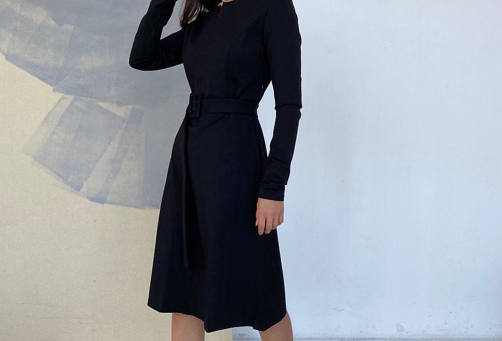 Платье Джерси черное