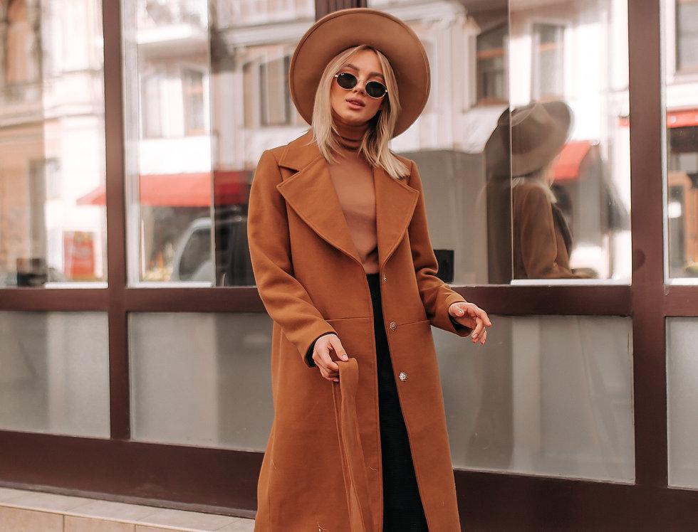 Пальто демисезонное карамель