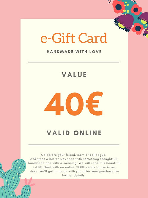 40€ e-Gift Card