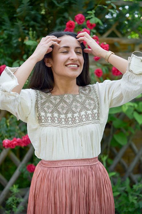 M/ San Andrés Beige blouse