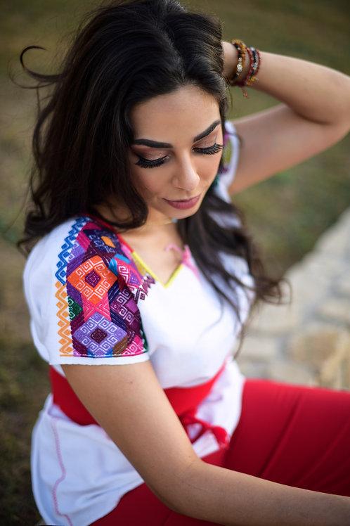 Back strap loom bluse Chiapas