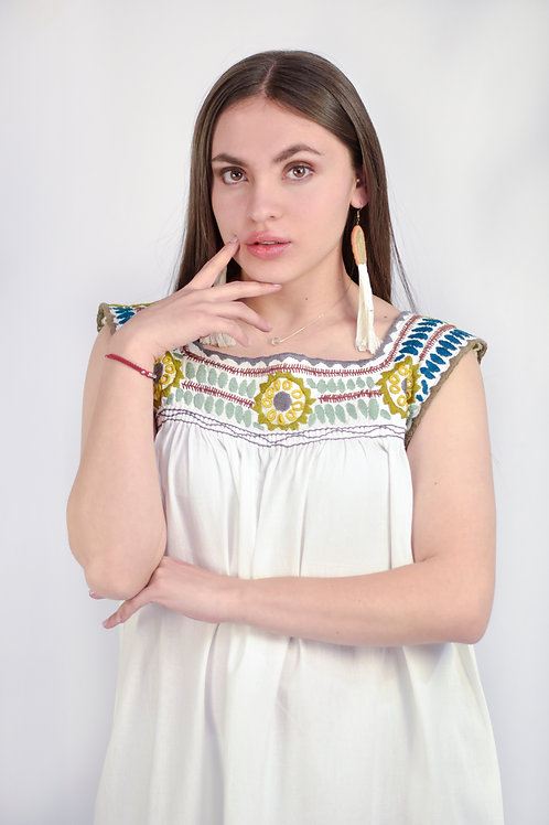 "One Size /Embroidered Boho Dress ""Aguacatenango"""