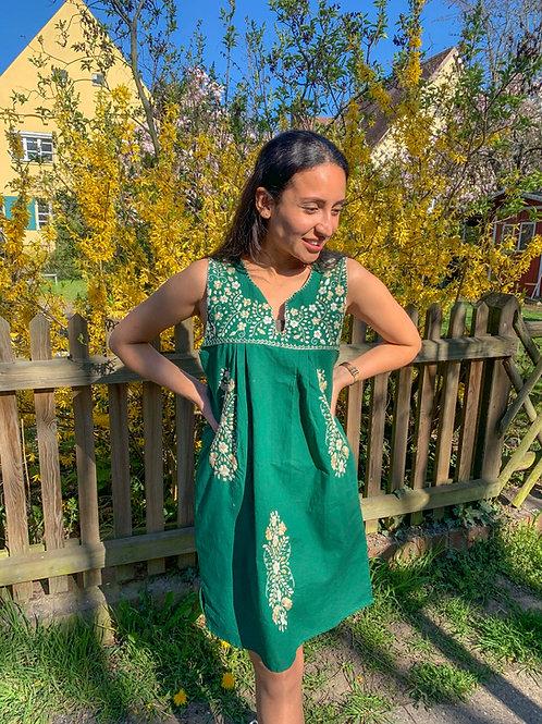 Green Tehuacán Boho dress