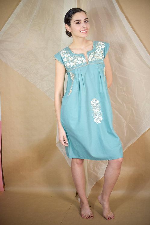 M-L/ Mint Tehuacán Boho dress