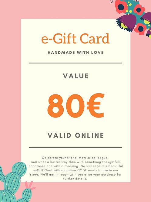 80€ e-Gift Card