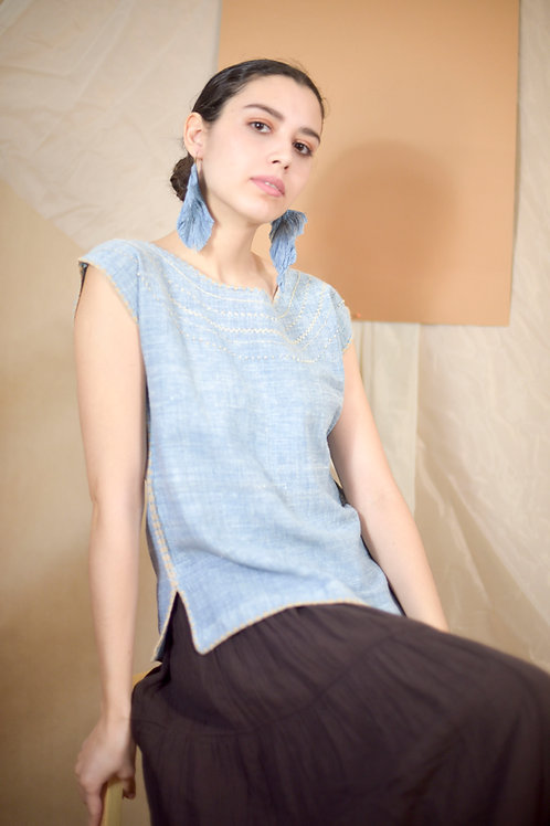 """S-M/ Blouse """"Aura"""" / Hand Embroidery"""
