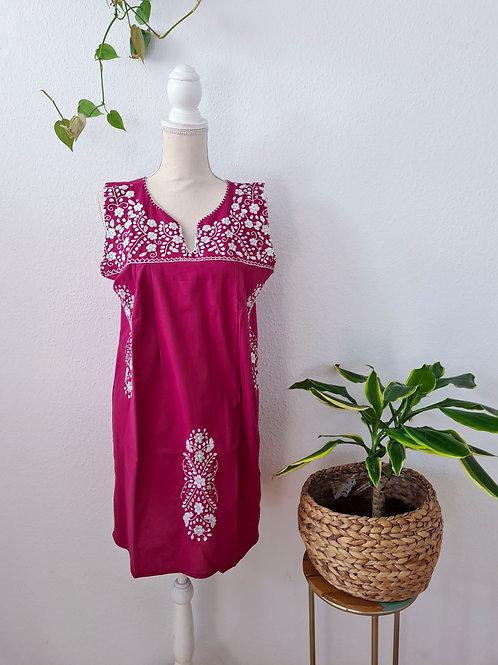 Magenta Tehuacán Boho dress