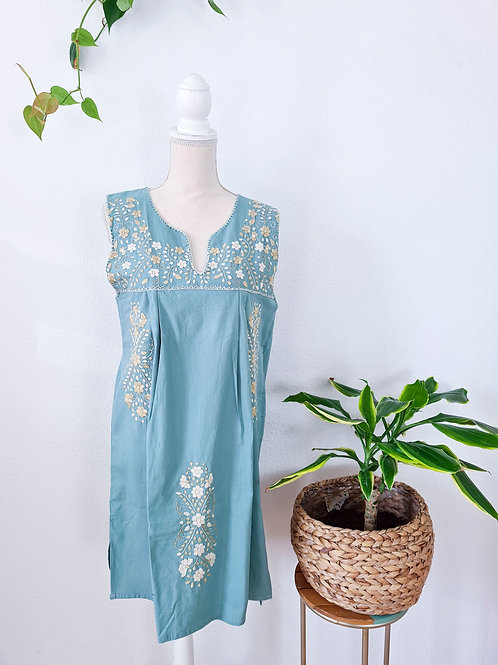 Mint Tehuacán Boho dress