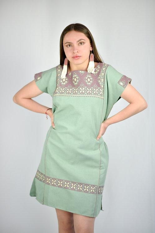 M/ San Andrés Waist Loom Huipil dress / cotton