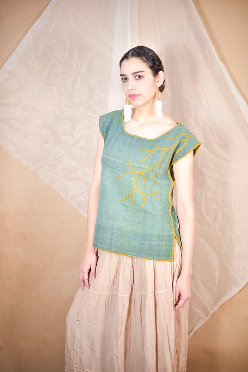 """S-M/ Blouse """"Ramas"""" / Hand Embroider"""