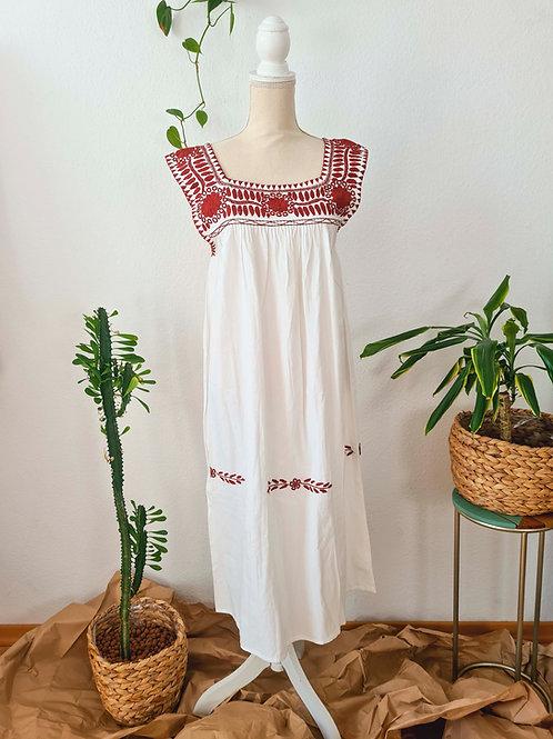 Brick Red Aguacatenango Dress