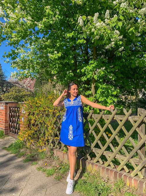 Blue Tehuacán Boho dress