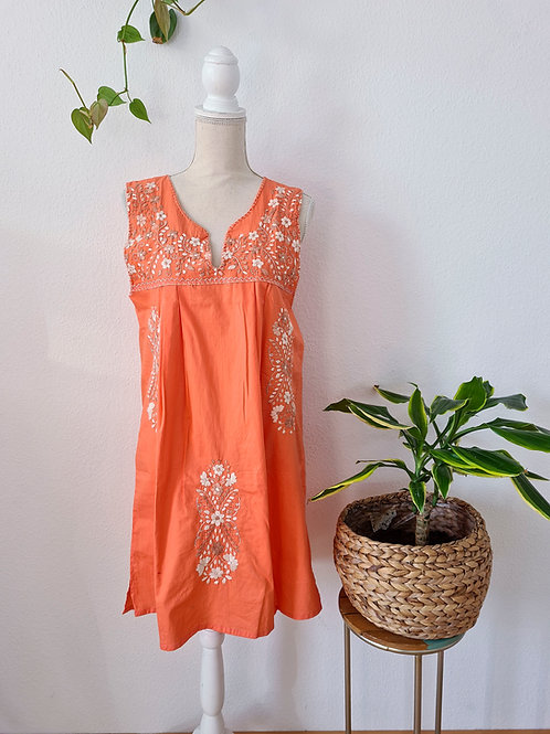 Coral Tehuacán Boho dress