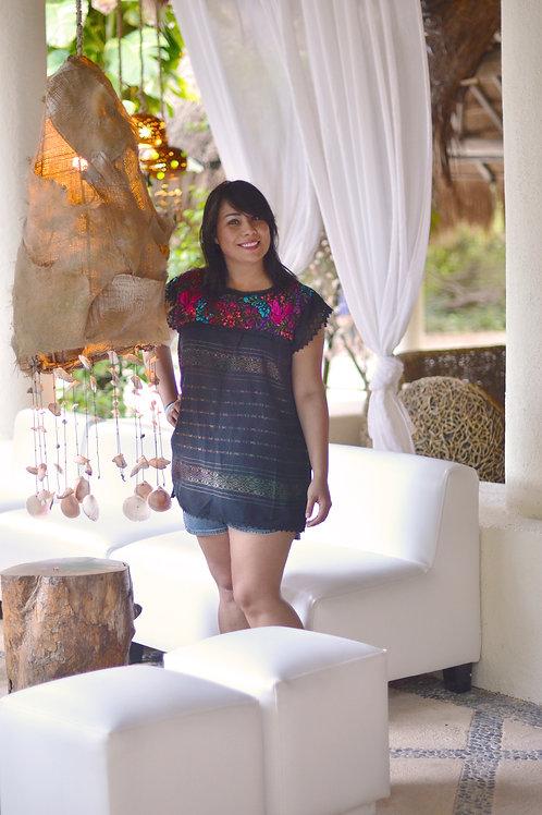 Mitla black/colors blouse
