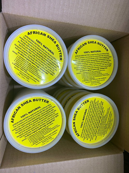 Yellow Shea Butter 8oz (24 PACK)