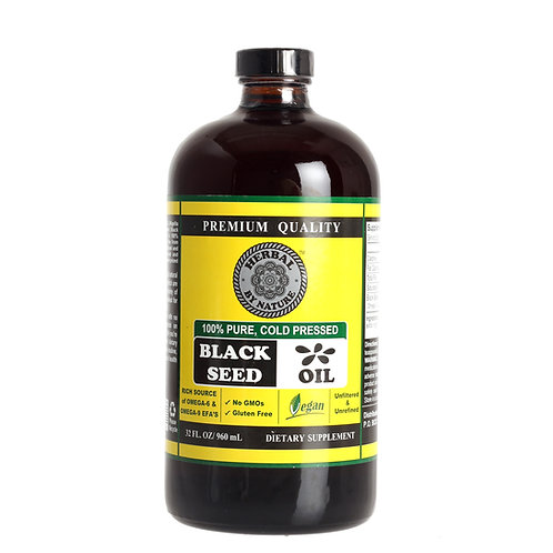 HBN Black Seed Oil 32oz (front)