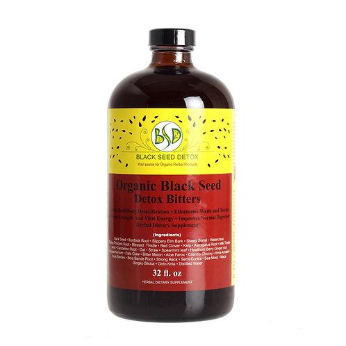 Organic Black Seed Detox Bitters 32oz