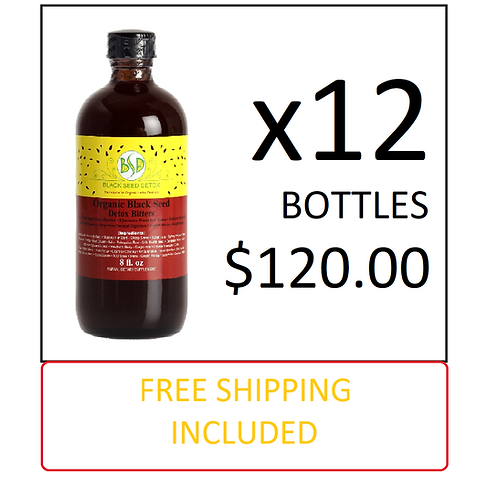 Black Seed Bitters 8oz ~ 12 Bottles