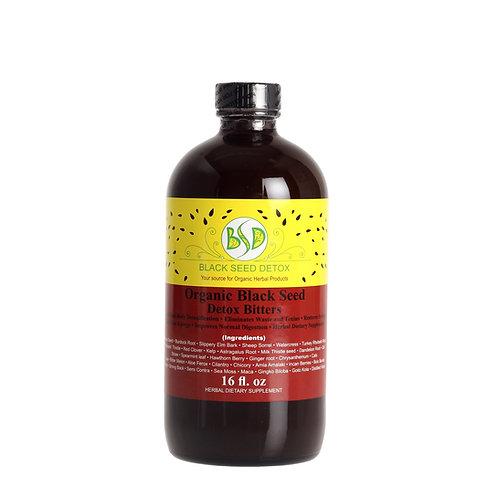 Organic Black Seed Detox Bitters 16oz